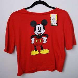 Disney Mickey Mouse Boxy Graphic Tee Shirt